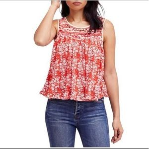 """Free People """"Lucky Coin"""" Linen Blend Tank"""